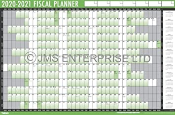 Financial 2021-2022 Wall Planner Fiscal Mid Year Calendar Adhesive Dots