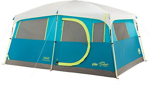 Coleman Tenaya Lake 8 Person Fast Pitch Instant Cabin Camping Tent w Weathertec