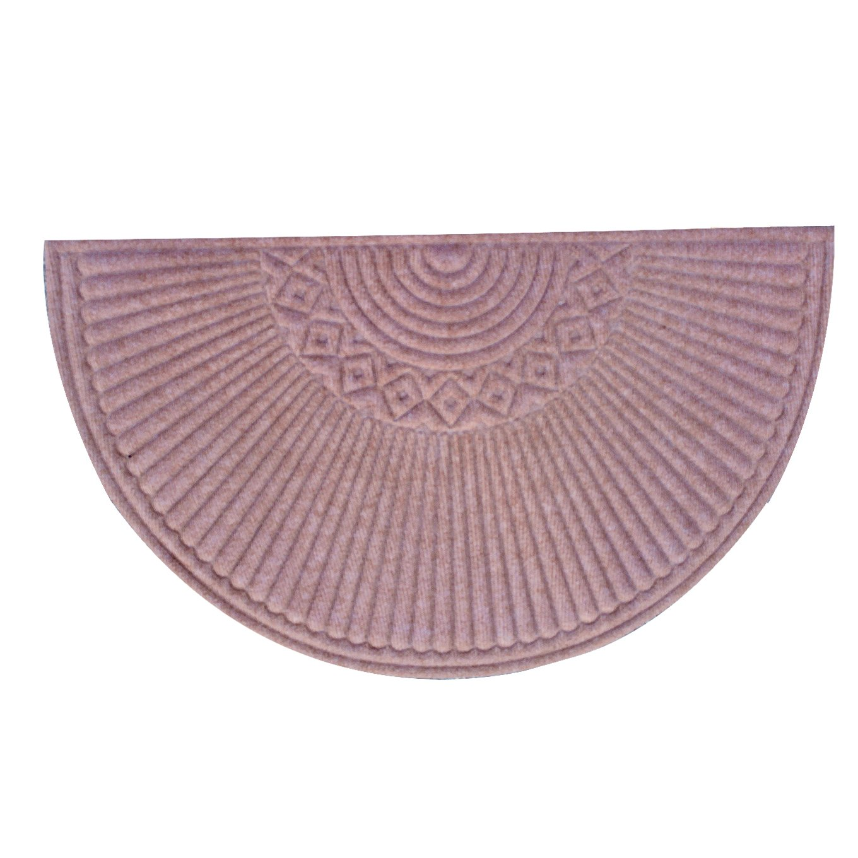 A1HC First Impression Nehemian Indoor/Outdoor Semi-circle Doormat (24'' x 39'')