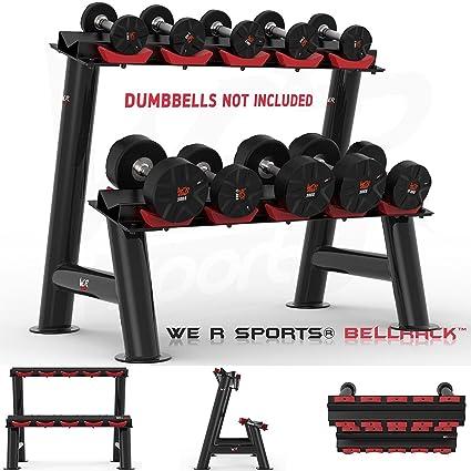 We R sports® pesado deber gimnasio Dumbbell accesorio de soporte para mancuernas de goma hexagonal