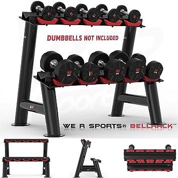 We R sports® pesado deber gimnasio Dumbbell accesorio de soporte para mancuernas de goma hexagonal 5 pares: Amazon.es: Deportes y aire libre