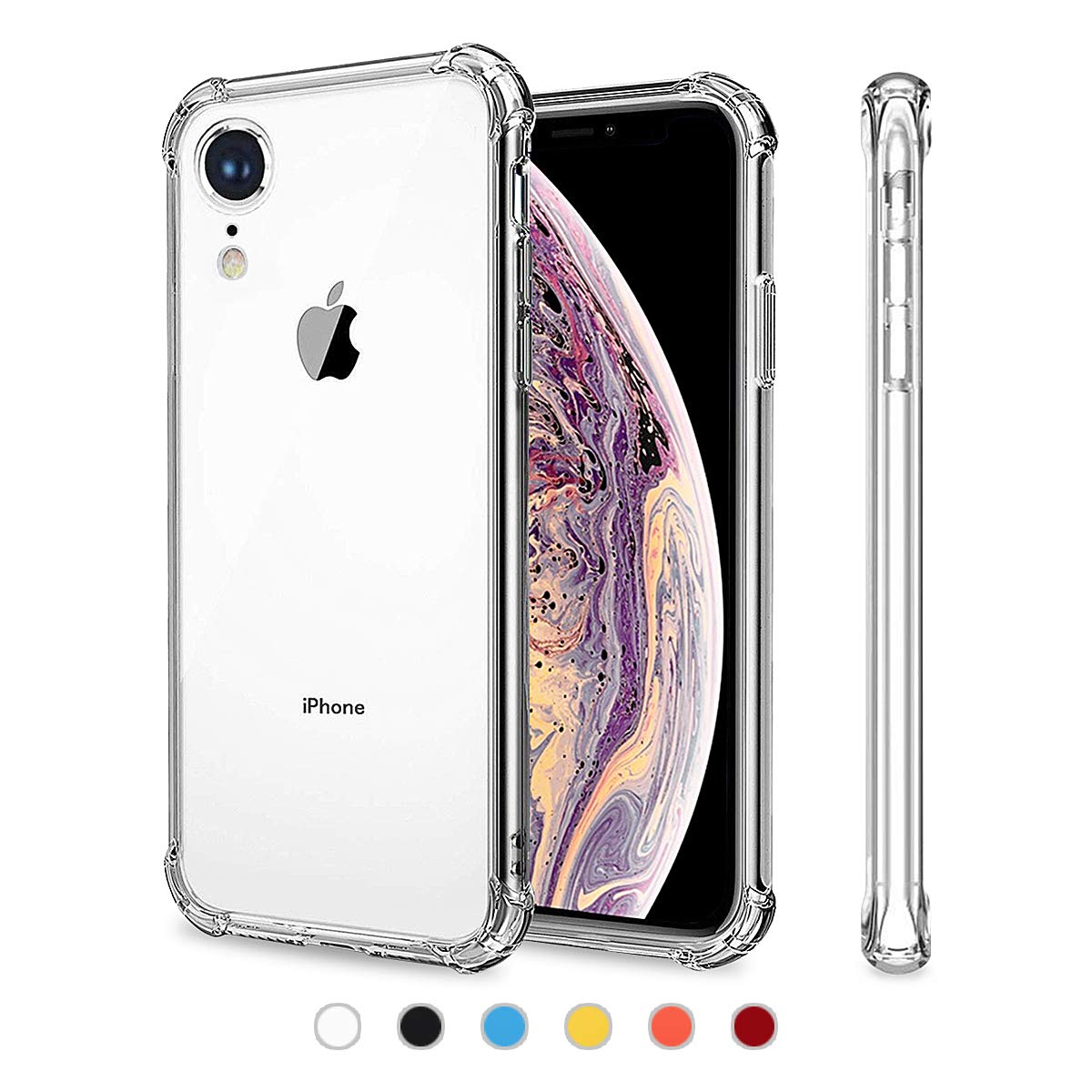 YOPECON for iPhone XR Cases - iPhone xr Clear case 6.1 Inch Premium Soft TPU Gel Ultra-Thin [Slim Fit] - Shock Absorption Cover and Clear case for iPhone XR