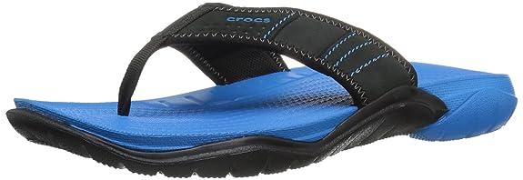 2 opinioni per Crocs Swiftwater Flip M Ocn/Blk, Pantofole Uomo