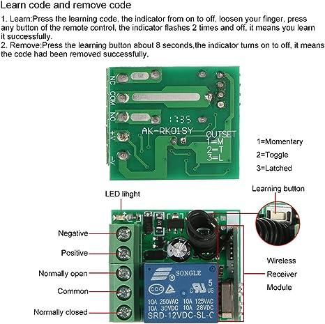 Télécommande de remplacement pour le système radio V ELRO ab440 Télécommande 12v-a23