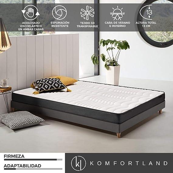 Komfortland Colchon 80x200 viscoelastico Memory Dream 130, 4 cm de Viscosensitive
