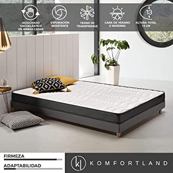 Komfortland Colchon 135x190 viscoelastico Memory Dream 130, 4 cm de Viscosensitive