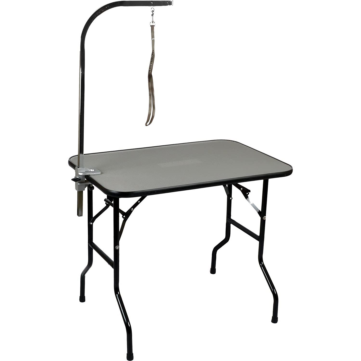 36\ Precision 2180-3624PWAFD Grooming Table 36X24X30-Inch Cargo Kennel with AAC and Loop Black