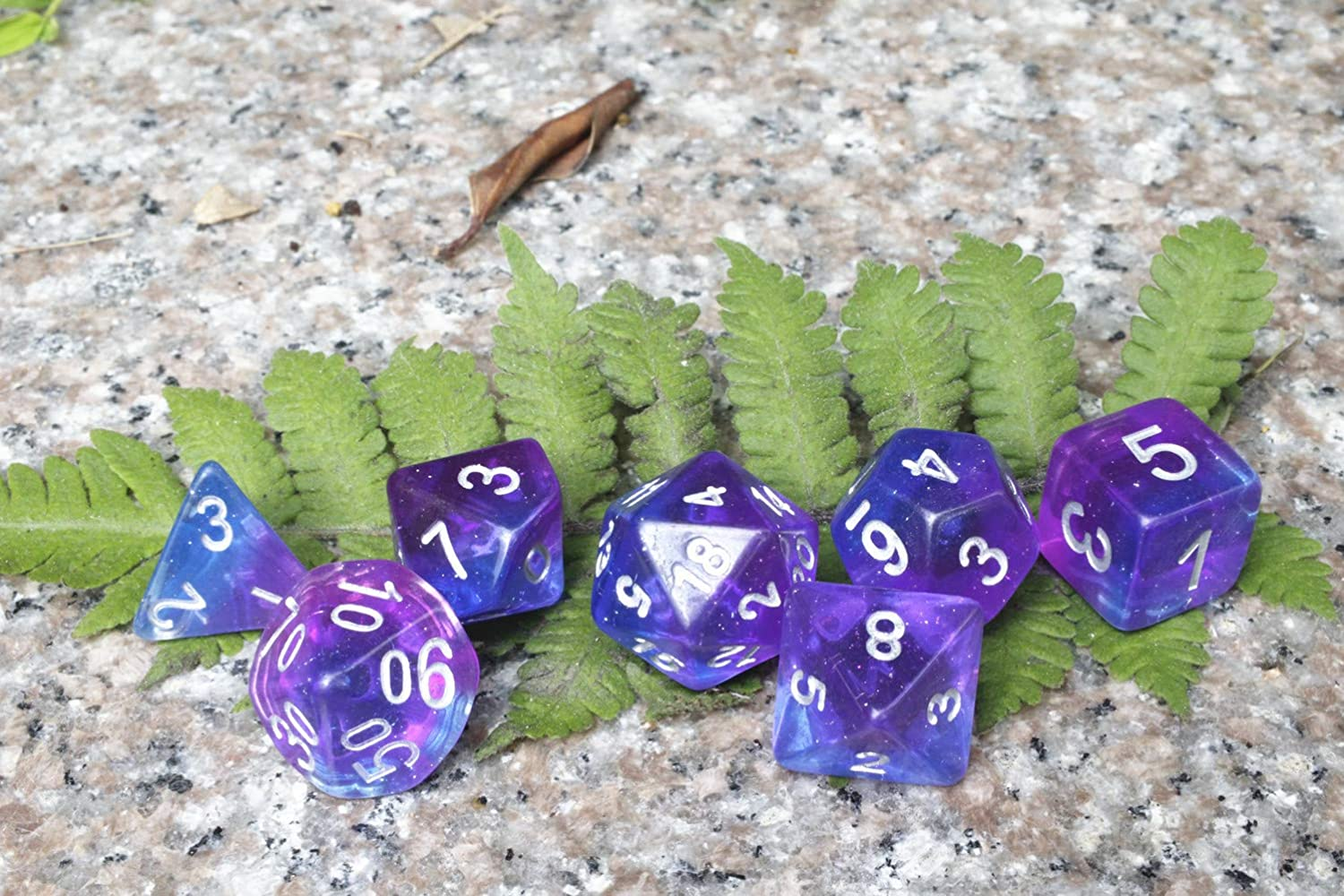 DND Dice Polyhedral 7-Die Dice Set for D/&D Dungeons /& Dragons Role Playing Gaming Aurora Dice