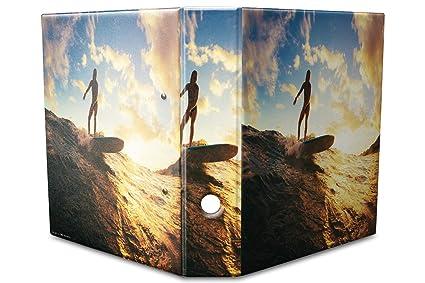 Archivador A4 Carpeta 2 anillas 60mm impreso Mujer onda surf