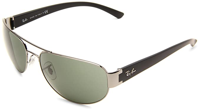 bd5a1ccc5e Ray-Ban RB3448 - GUNMETAL Frame CRYSTAL GREEN Lenses 63mm Non-Polarized