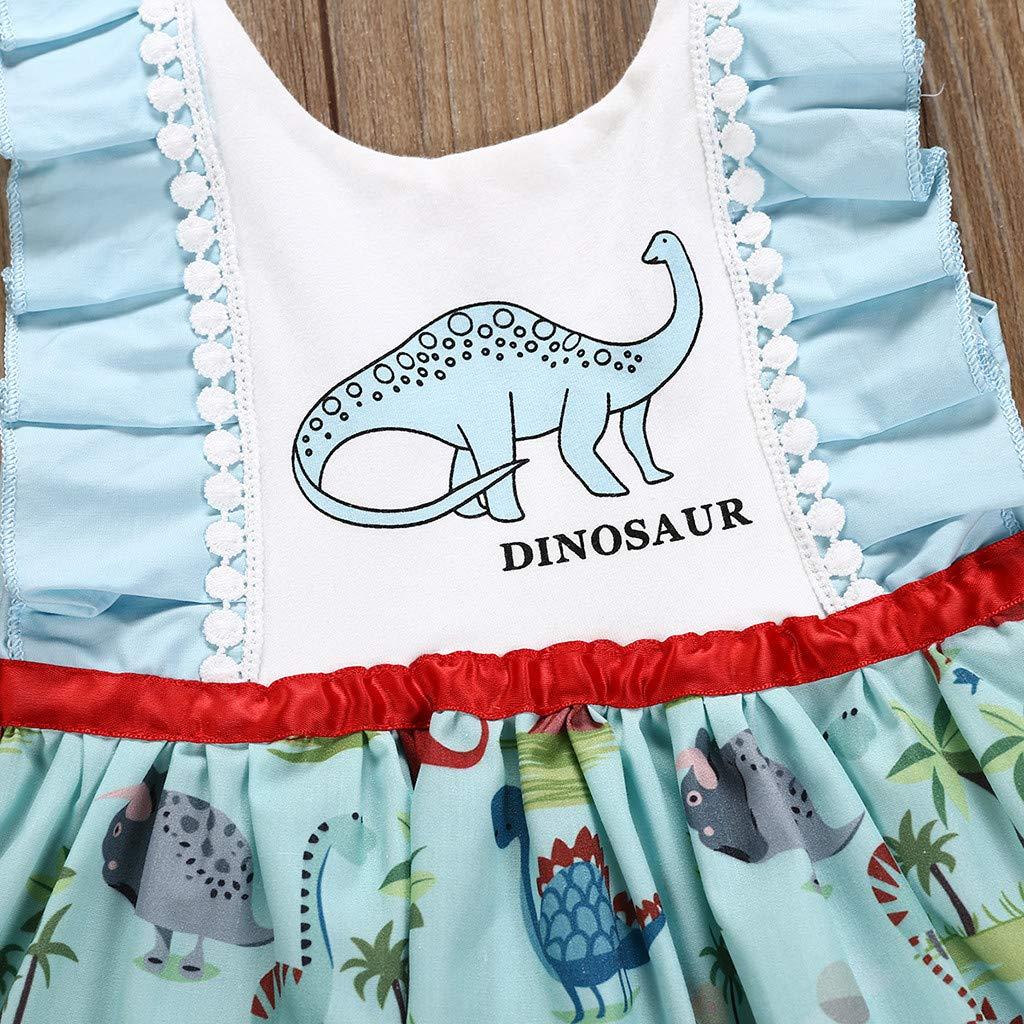 M/ädchen Baumwolle Cartoon Blumen /Ärmellos Kleid Mode Kleinkind Baby M/ädchen Print /ärmelloser Karikatur Dinosaurier Buchstabe Druckkleid Kleidung