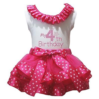 Petitebella Pink Dots Cupcake 1 to 3 White Shirt Pink Dots Petal Skirt Outfit