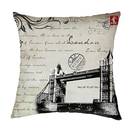 Pillow Covers Puente de la Torre de Londres poliéster Manta ...