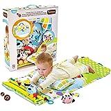 ユーキッド プレイマット ながめてプレイマット レールの上を走る車を求めて うつぶせ寝とハイハイを促進 おもちゃ付き 知育玩具