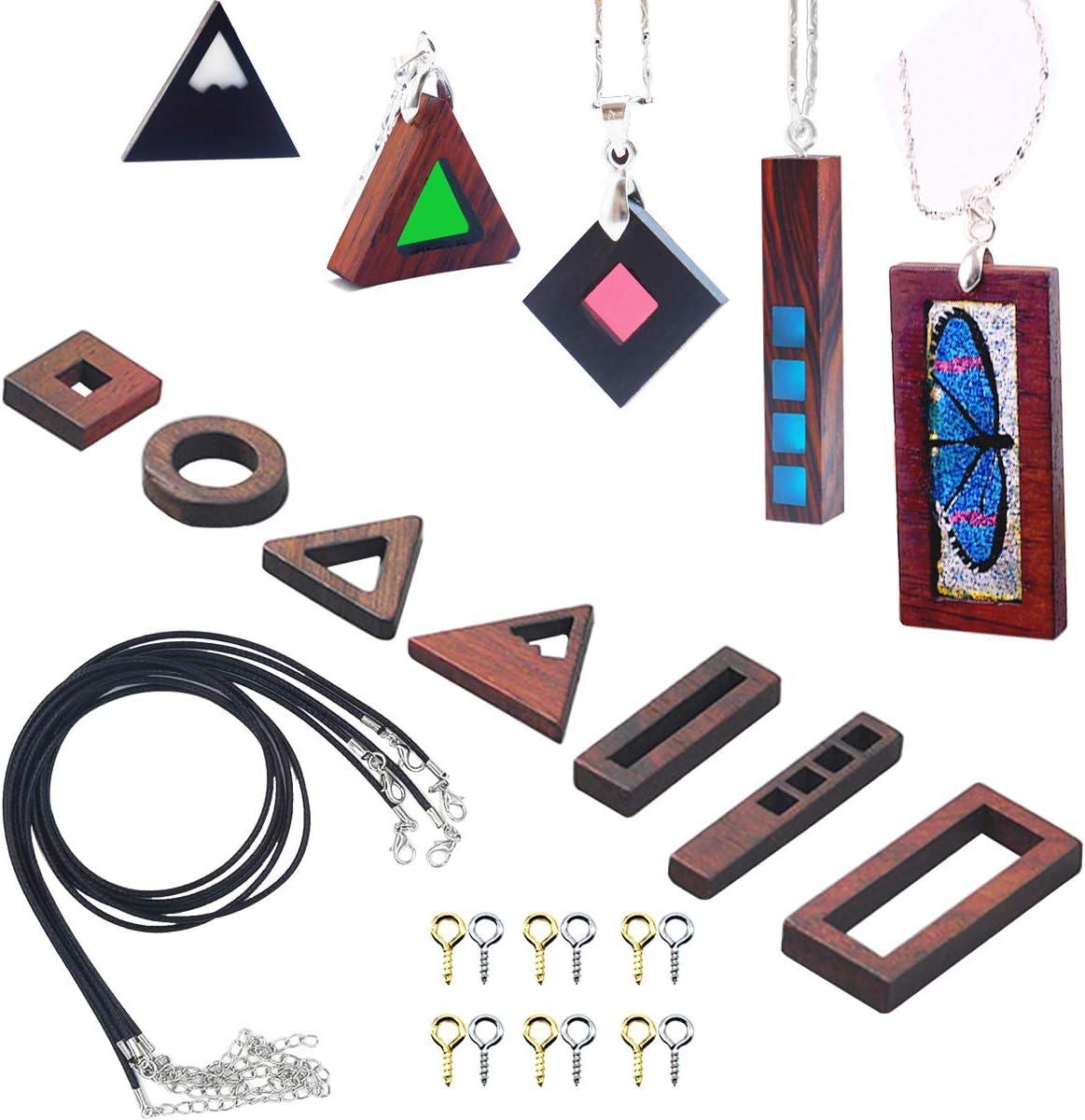 pendant Wooden ring earrings pendant for gift  Handmade wood resin jewelry Wood resin jewelry set Wooden jewelry set Resin ring earrings