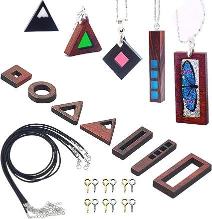 Multicolored Black Resin Necklace