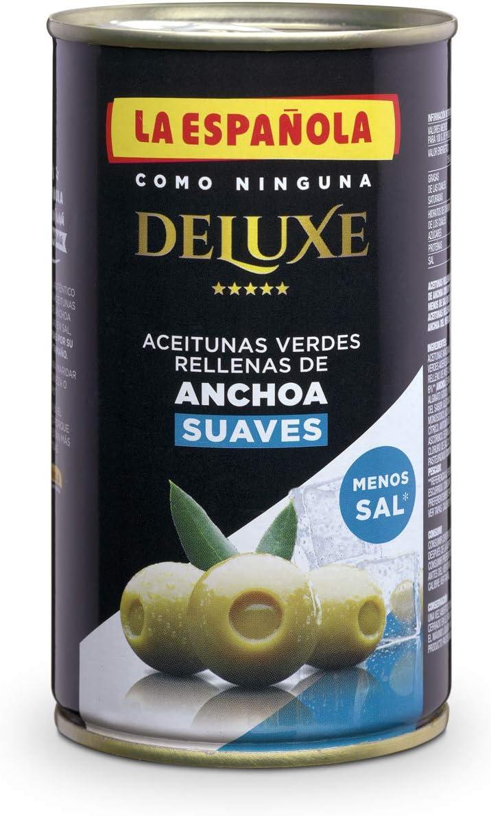 Pack 12 uds Aceituna Rellena de Anchoa Suave Deluxe 150 gr.