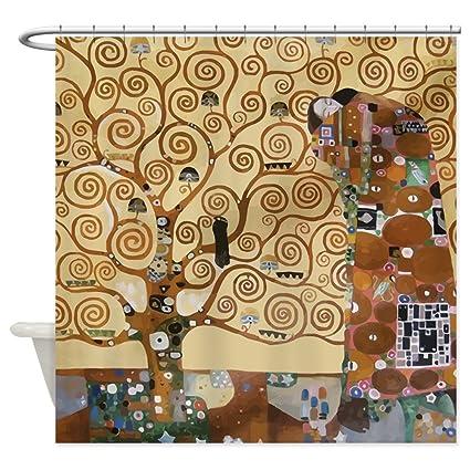 CafePress Gustav Klimt Tree Of Life Shower Curtain Decorative Fabric 69quotx70quot