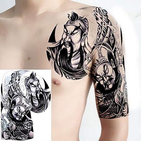 Handaxian 2 unids-Hombro y Pecho Sol tótem dragón Original Tatuaje ...
