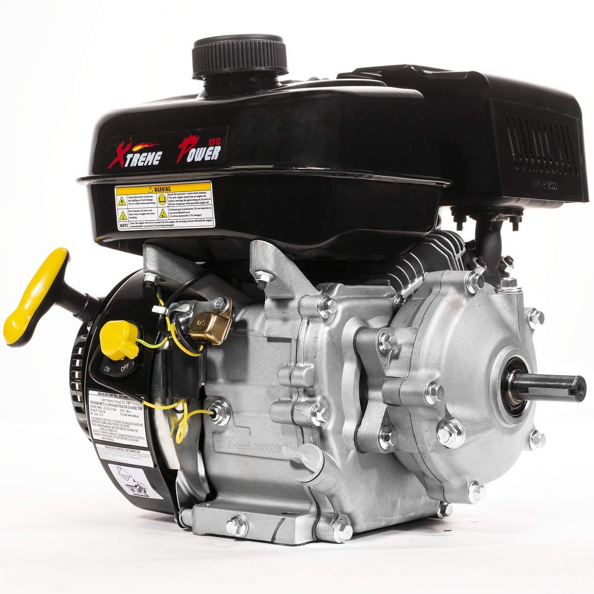 XtremepowerUS Premium 6.5HP 196cc OHV Horizontal Shaft Gas Engine 4-Stroke Motor Industrial Gas Engine GoKart EPA