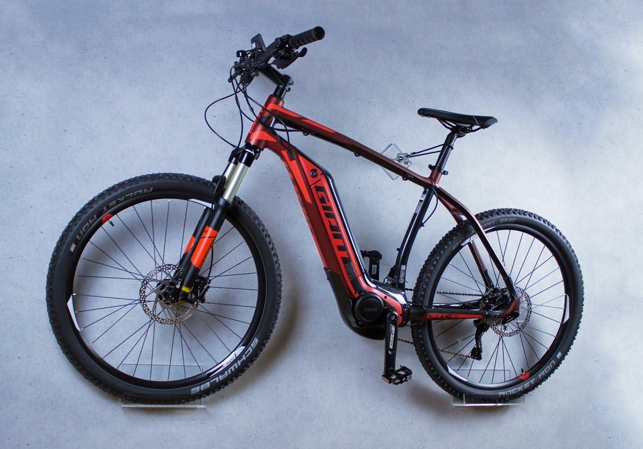 trelixx Soporte de Pared para Bicicleta acrílico Transparente Idóneo para Bicicletas Pesadas, Compatible con Bicicletas eléctricas, Soporte de diseño para Bicicleta con Montaje en la Pared: Amazon.es: Deportes y aire libre