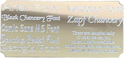 """Engraved Personalised Trophy or Presentation Plaque for a Gift Box 3.25 x 1"""""""