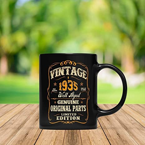 My 83rd Birthday Shirt Turning 83 Years Old Funny 1935 Gift Mug For Men And Women Vintage