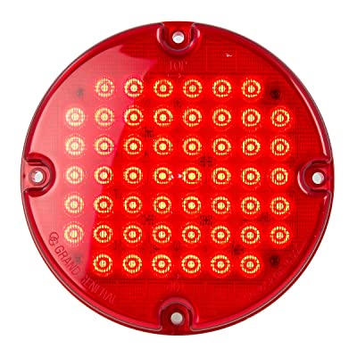 "Grand General 82352 Red/Red Sealed Light (7"" Smart Dynamic 52 LED Bus): Automotive"