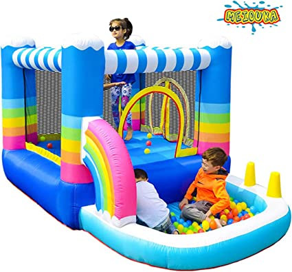 Amazon Com Meiouka Kids Inflatable Bounce Houses Jumper With 350w
