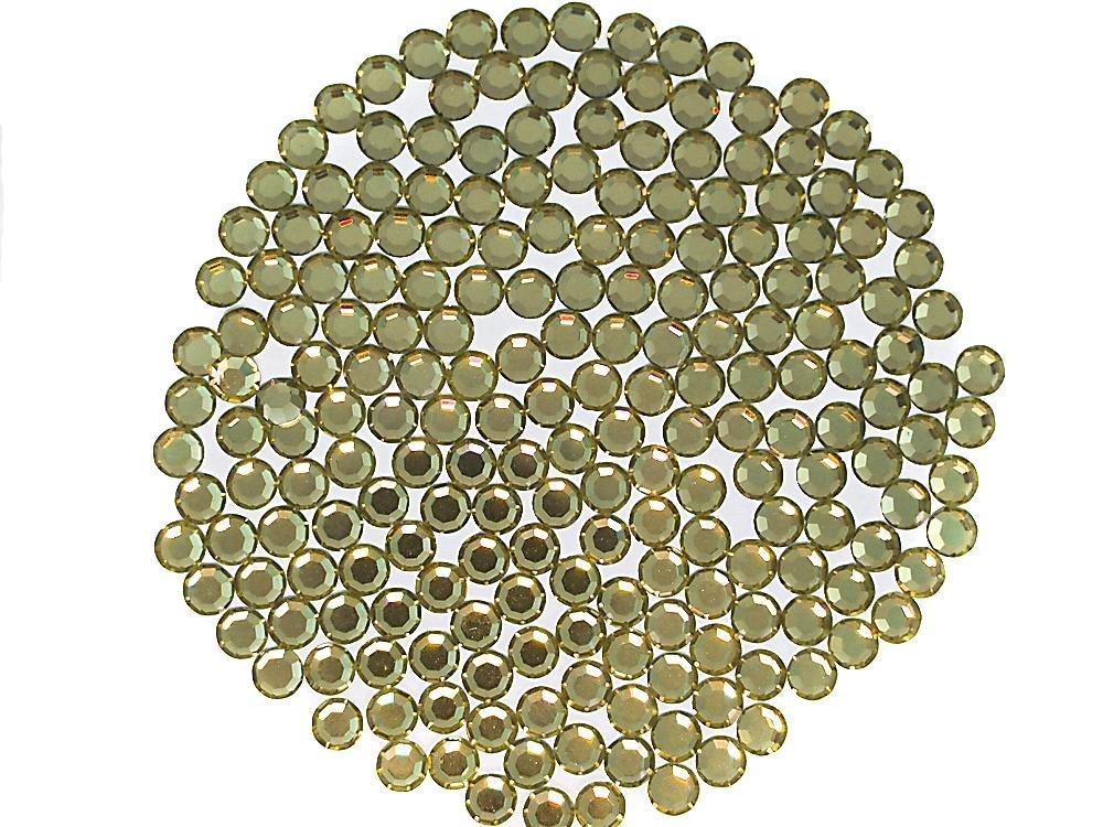 ゴールドBeryl、Preciosa本物チェコクリスタル、8-facetedラインストーンFlatbacks、ss16(4 mm ) ~ 1440pcs   B076KB15JB