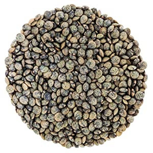 Organic French Green Lentils by Food to Live (Whole Dry Beans, Non-GMO, Kosher, Raw, Sproutable, Bulk) — 20 Pounds
