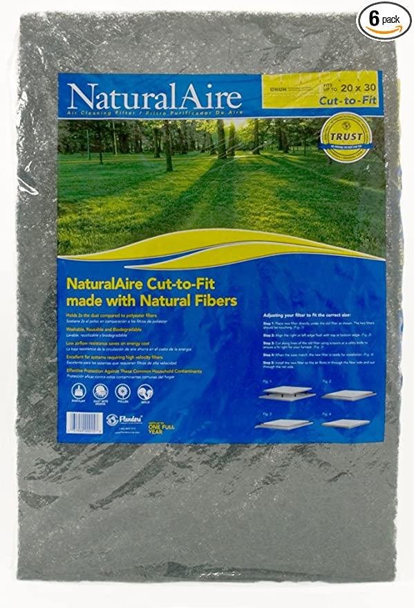 NaturalAire SM1006 Cut-to-Fit Synthetic Air Filter, MERV 4