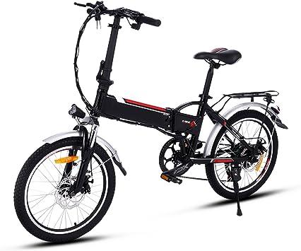 AMDirect Bicicleta Eléctrica Plegable con Batería de Litio(36V 8Ah ...