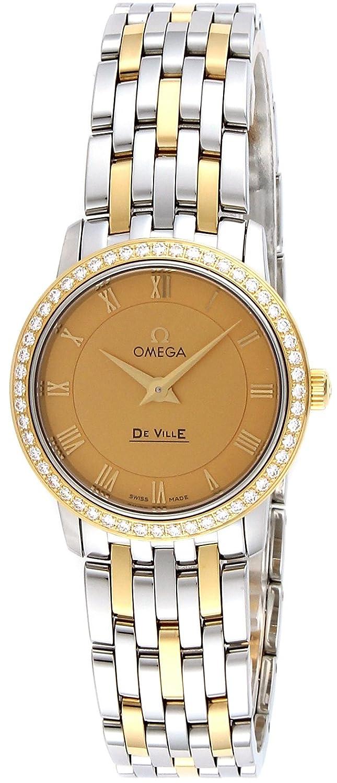 [オメガ]OMEGA 腕時計 デ・ビル ゴールド文字盤 ダイヤモンド