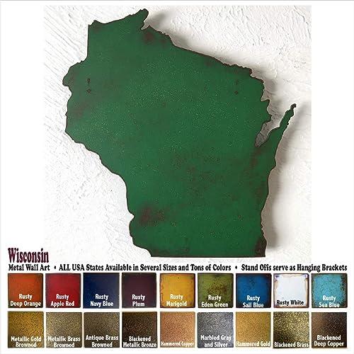 Amazon Wisconsin Metal Wall Art Choose 10 16 Or 22 Tall