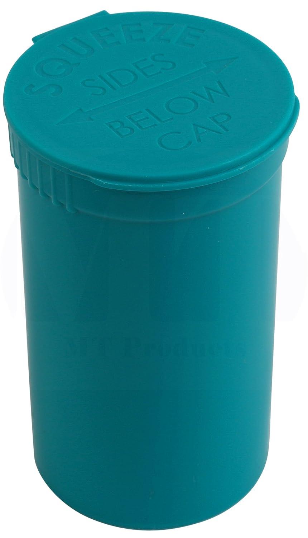 MT Products Pop Bottle Top Prescription (15 Pieces) 19 Dram Aqua