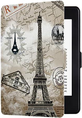 Huasiru Pintura Caso Funda para Kindle Paperwhite (Versiones 2012, 2013, 2015, 2016 y 2017), no es Compatible con la versión del 2018 (10.ª generación) - Torre Retro: Amazon.es