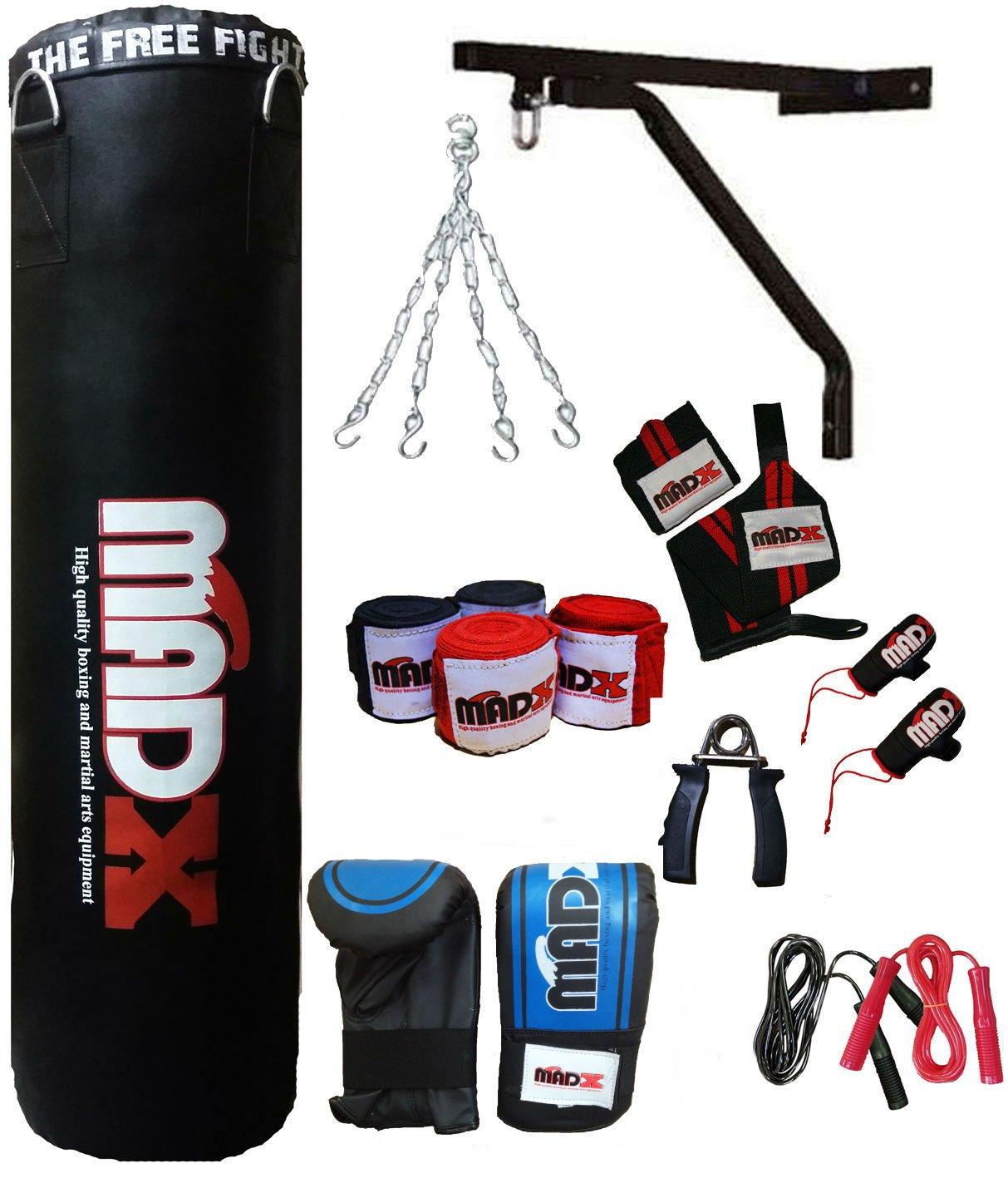 madx 4/m 13/pi/èces SET DE BOXE rempli lourd sac de frappe Gants kickbag cha/îne support