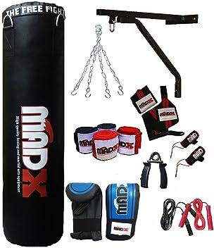 MADX 13 piezas 152,4 cm juego de boxeo con guantes de boxeo saco de boxeo para mujer, cadena, soporte de pared, Kickbag: Amazon.es: Deportes y aire libre