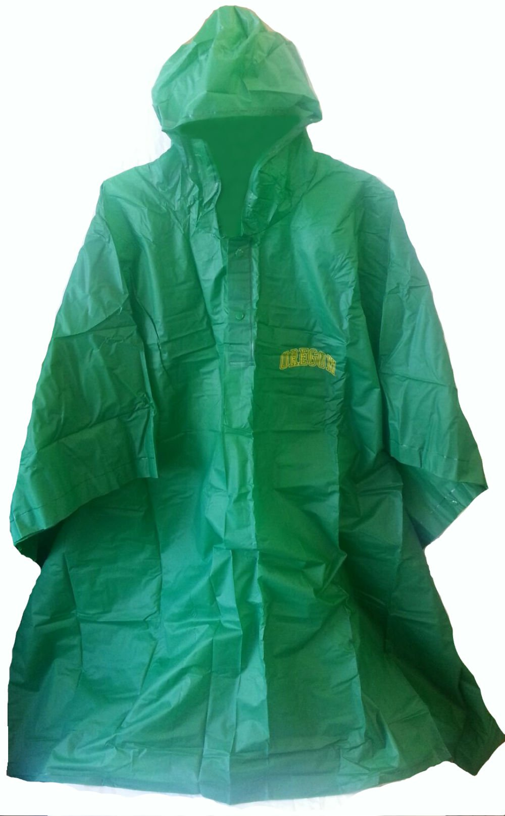 Oregon State Reusable Rain Poncho, Adult One Size - GREEN (PACK OF 4) by Collegiate