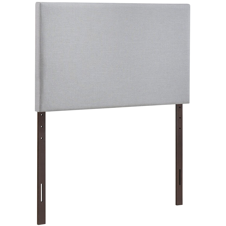 amazoncom modway region twin upholstered linen headboard in gray  - amazoncom modway region twin upholstered linen headboard in gray kitchen dining