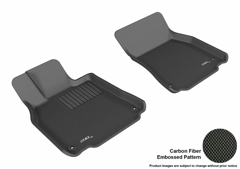 L1LX04011509 Black Kagu Rubber 3D MAXpider Front Row Custom Fit All-Weather Floor Mat for Select Lexus LS460//LS460L Models