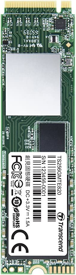 Transcend ts256gmte820 PCIe 3 G X4, M2 Solid State Drive, 256 GB ...