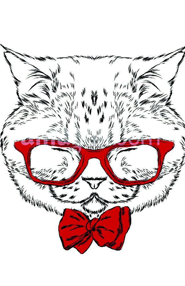 The Shutterstock Collection Funny Cat en una Corbata y Gafas ...