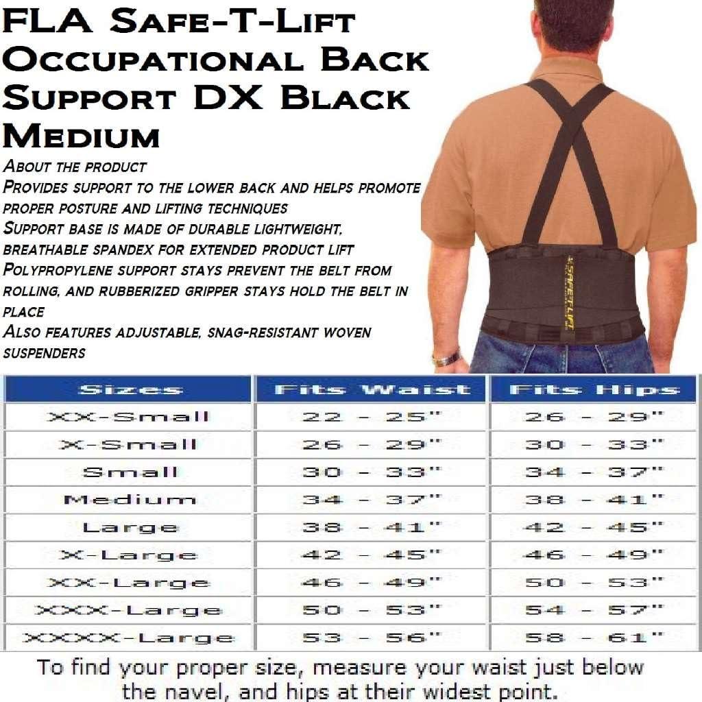 B00011COQG Safe-T-Lift Back Support DX. Medium. Black 71HNj6KYfPL