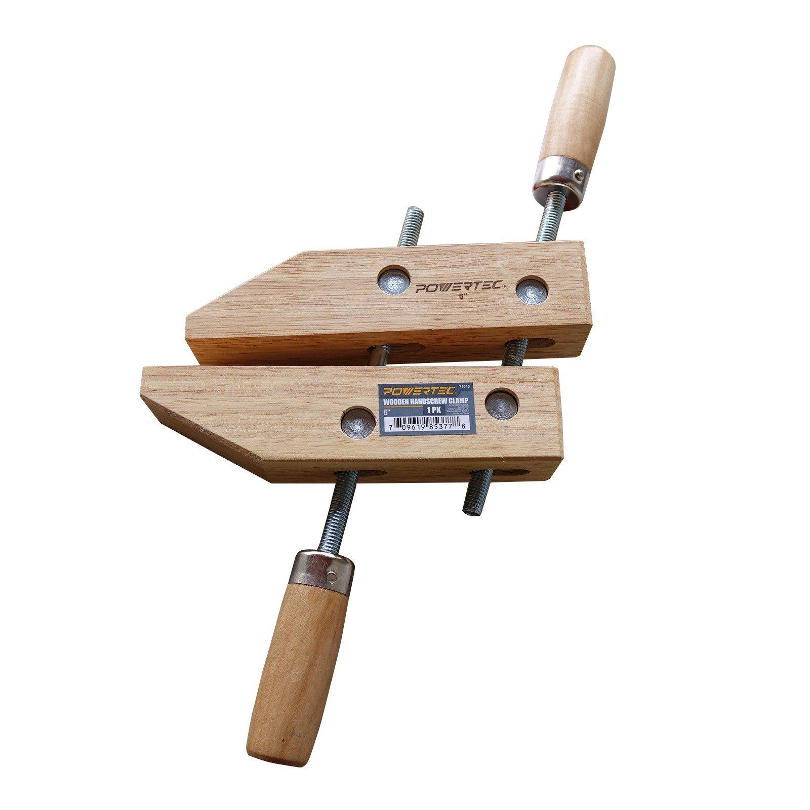 POWERTEC 71040 Wooden Handscrew Clamp
