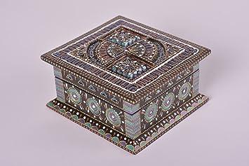 Fabricado en caja de madera con tapa regalo para mujer ...