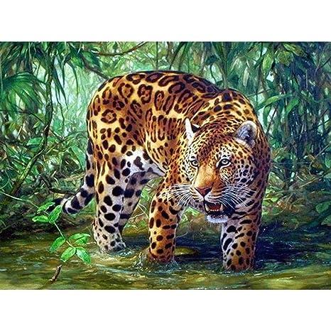 Jiahuade - Pintura de diamante para tatuaje, tigre 5D, bordado de ...