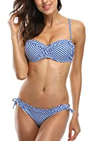 Sociala Women's Swimwear Push Up Bikini Bandeau Bathing Suits 2 Piece Swimsuits