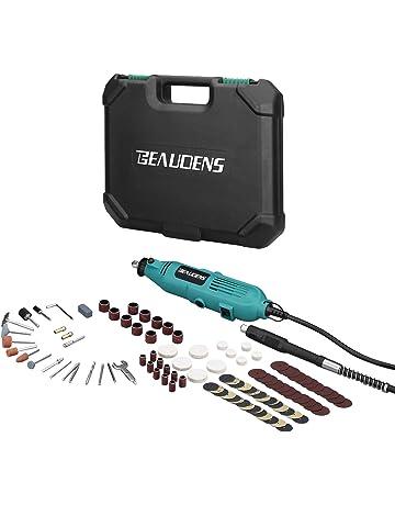 BEAUDENS Amoladora Eléctrica, Kit de herramientas rotatorias multifunción con 100 Accesorios giratoria avanzada de 6